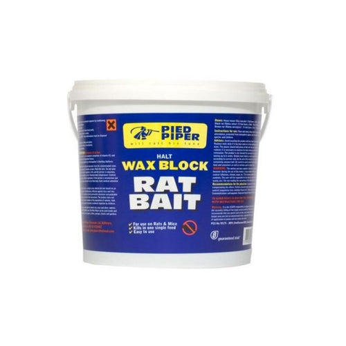 Pied Piper Wax Block Rat Bait 2.5Kg  At Beattys Loughrea Galway. Www.beattys.ie