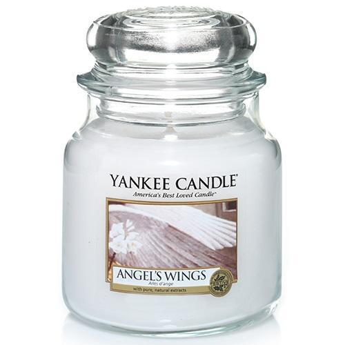 Angels Wings Medium Yankee Candle 411g  At Beattys Loughrea Galway. Www.beattys.ie