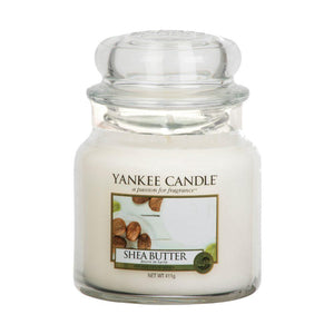 Shea Butter Medium Yankee Candle 411g  At Beattys Loughrea Galway. Www.beattys.ie