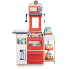 LITTLE TIKES COOK N STORE KITCHEN RED  At Beattys Loughrea Galway. Www.beattys.ie