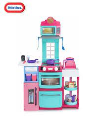LITTLE TIKES COOK N STORE KITCHEN PINK  At Beattys Loughrea Galway. Www.beattys.ie