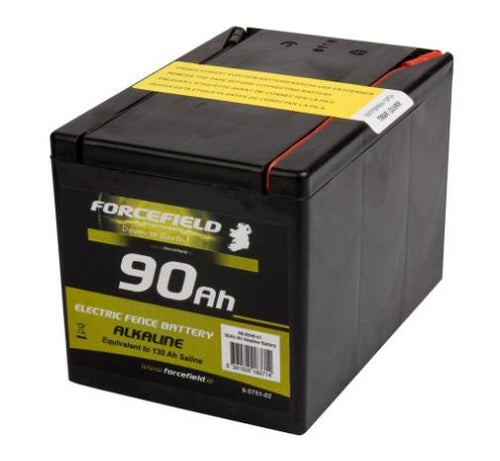Forcefield 90 AH Alkaline Fencer Battery - Beattys of Loughrea , www.beattys.ie