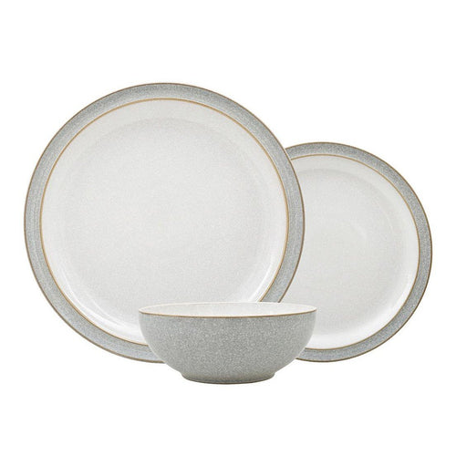 Denby Elements 12 Piece Dinnerset Grey. Buy at Beattys Loughrea Galway. Www.beattys.ie