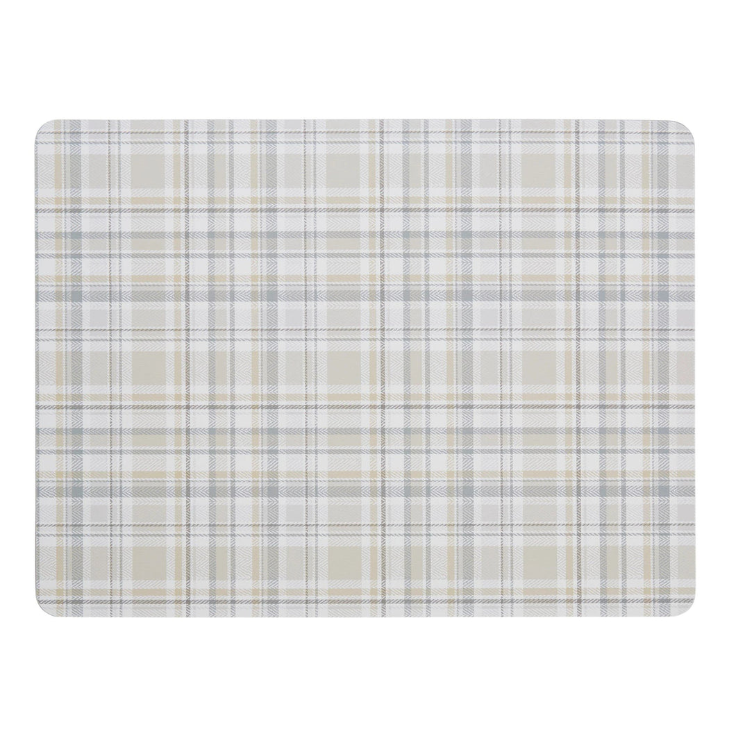 Denby Elements Checks Natural 6Pc Placemats - Beattys of Loughrea , www.beattys.ie