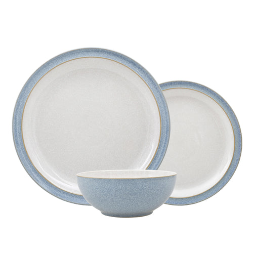 Denby Elements 12 Piece Dinnerset Blue. Buy at Beattys Loughrea Galway. Www.beattys.ie