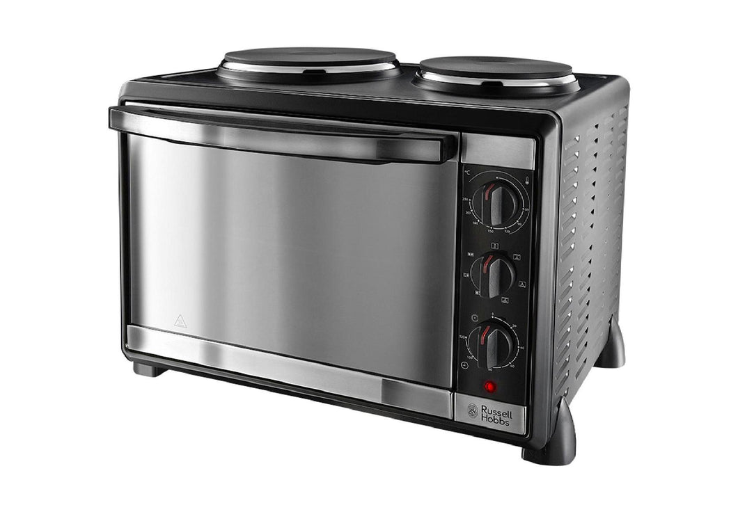 RHOBBS BLACK MINI OVEN & HOB 1600W 30L 22780  Buy at Beattys Loughrea. Www.beattys.ie