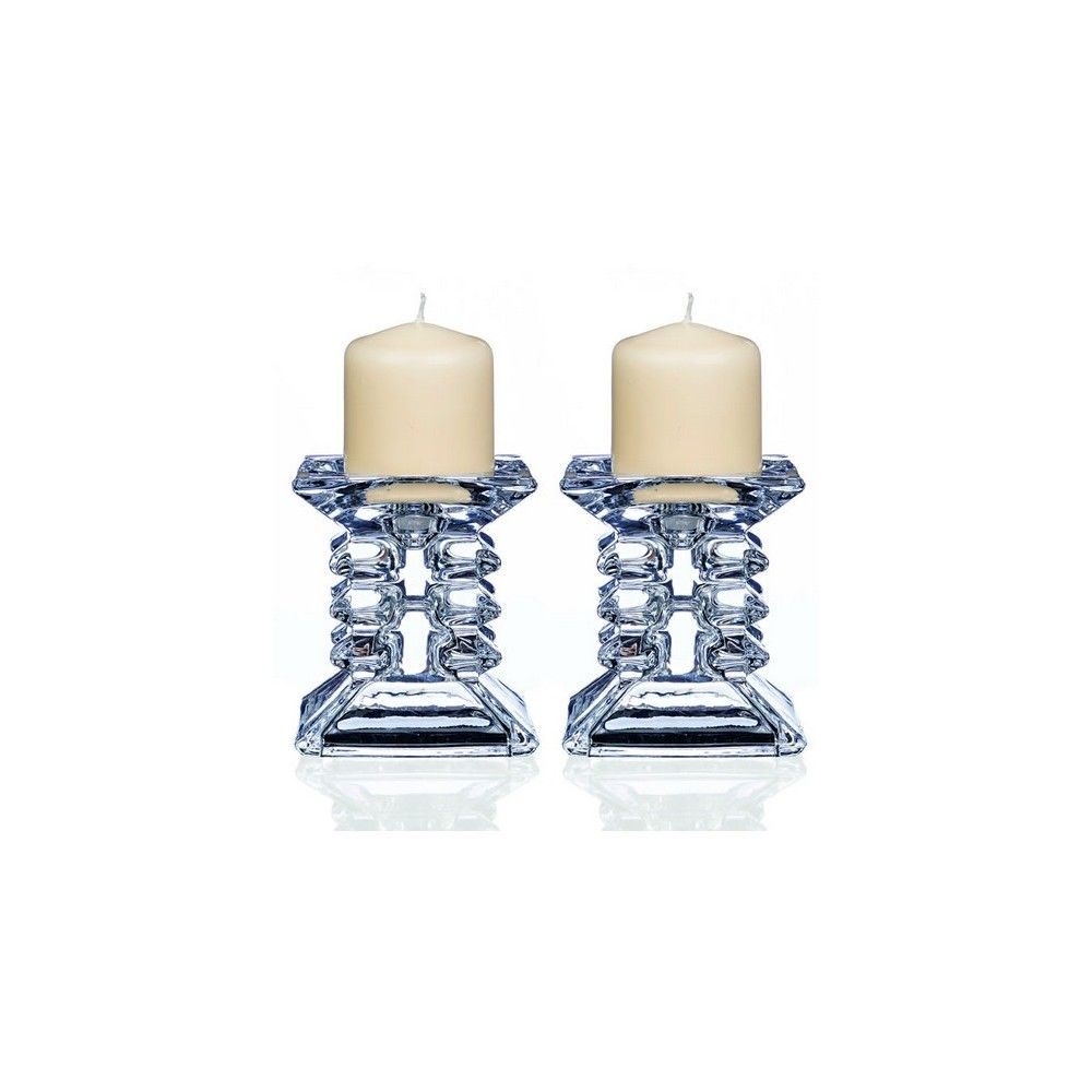 Newgrange Living Pair of Ziggy Pillar Candleholders  At Beattys Loughrea Galway. Www.beattys.ie