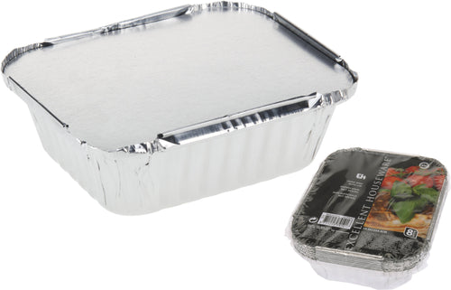 Aluminium Foil Tray with Lid 8pk Buy Instore or online at beattys.ie