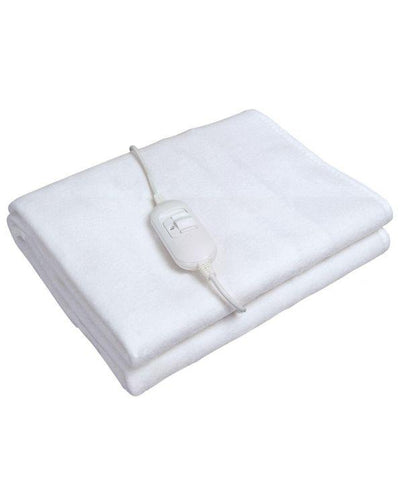 Kingavon Double Electric Blanket - White. Buy at Beattys Loughrea Galway. Www.beattys.ie