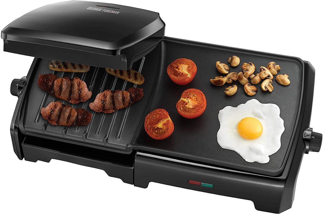 GEORGE FOREMAN 23450 10 PORTION GRILL & GRIDDLE  Buy at Beattys Loughrea. Www.beattys.ie