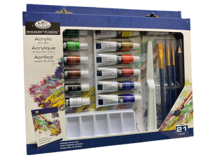Essentials 21Pce Acrylic Painting Art Set - Beattys of Loughrea , www.beattys.ie