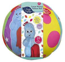 In The Night Garden Large Motion Sensor Ball. Buy at Beattys Loughrea Galway. Www.beattys.ie