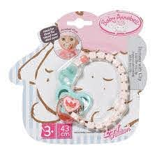 Baby Annabell Dummy With Clip Asst. Buy at Beattys Loughrea Galway. Www.beattys.ie