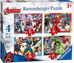 Avengers Assemble 4 In A Box Puzzle - Beattys of Loughrea , www.beattys.ie