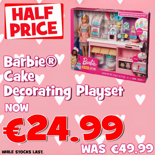 Barbie Cake Decorating Playset  At Beattys Loughrea Galway. Www.beattys.ie