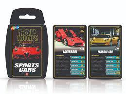 TOP TRUMPS Sports Cars  At Beattys Loughrea Galway. Www.beattys.ie