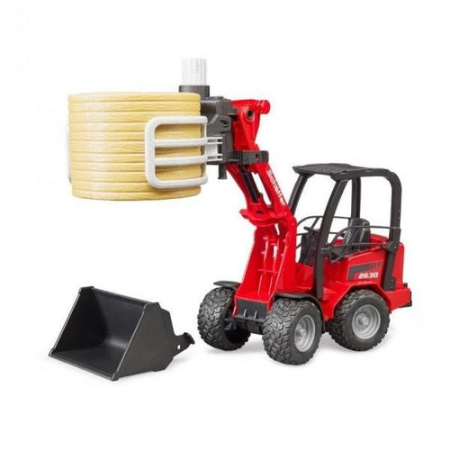 SCHAFFER COMPACT LOADER 2034 WITH BALE GRIPPER & BALE  Buy at Beattys Loughrea. Www.beattys.ie