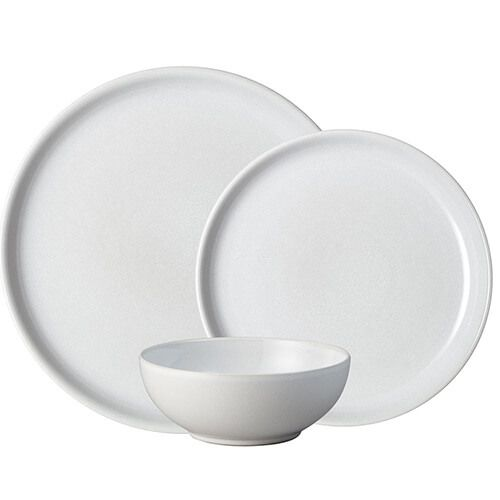 Denby Intro Stone White 12 Piece Tableware Set. Buy at Beattys Loughrea Galway. Www.beattys.ie