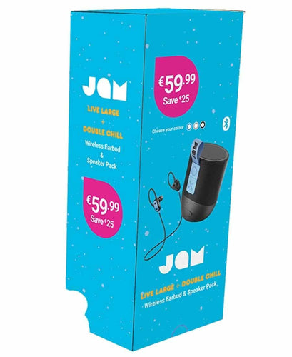 BX JAM SPEAKER & EARPHONE BT BUNDLE DBLE CHILL LARGECHILLBLK Buy Instore or online at beattys.ie