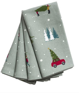 S22 NAPKINS 4PK HOME FOR CHRISTMAS  Buy at Beattys Loughrea. Www.beattys.ie