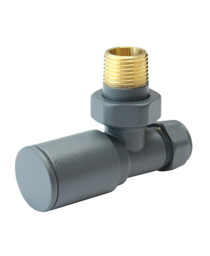 Aqualla  Anthracite Round Angle Valve (Pair)      BS2020  At Beattys Loughrea Galway. Www.beattys.ie