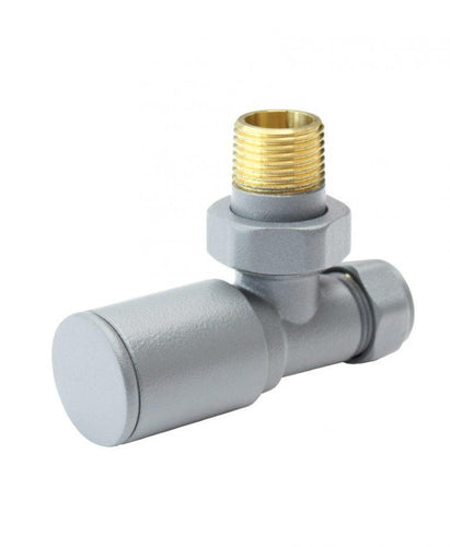 Aqualla  Light Grey Round Angle Valve (Pair)      BS2020  At Beattys Loughrea Galway. Www.beattys.ie