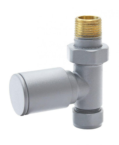 Aqualla  Light Grey Round Straight Valve (Pair)      BS2020  At Beattys Loughrea Galway. Www.beattys.ie