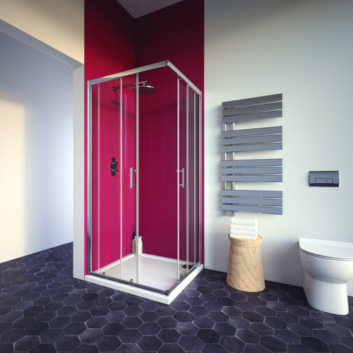 Bathroom Studio  City Plus Corner Entry  800mmx800mm    BS2020  At Beattys Loughrea Galway. Www.beattys.ie