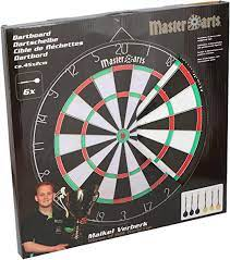 Master Darts Dartboard 40.5 cm with 6 arrows - Beattys of Loughrea , www.beattys.ie