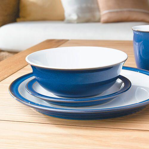 Denby Imperial Blue 12 Piece Set. Buy at Beattys Loughrea Galway. Www.beattys.ie