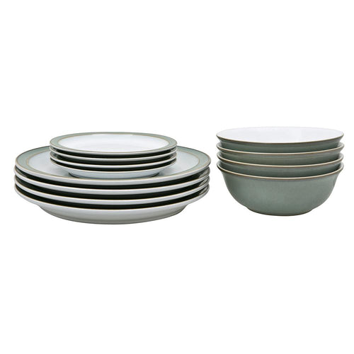 Denby Regency Green 12 Piece Box Set. Buy at Beattys Loughrea Galway. Www.beattys.ie