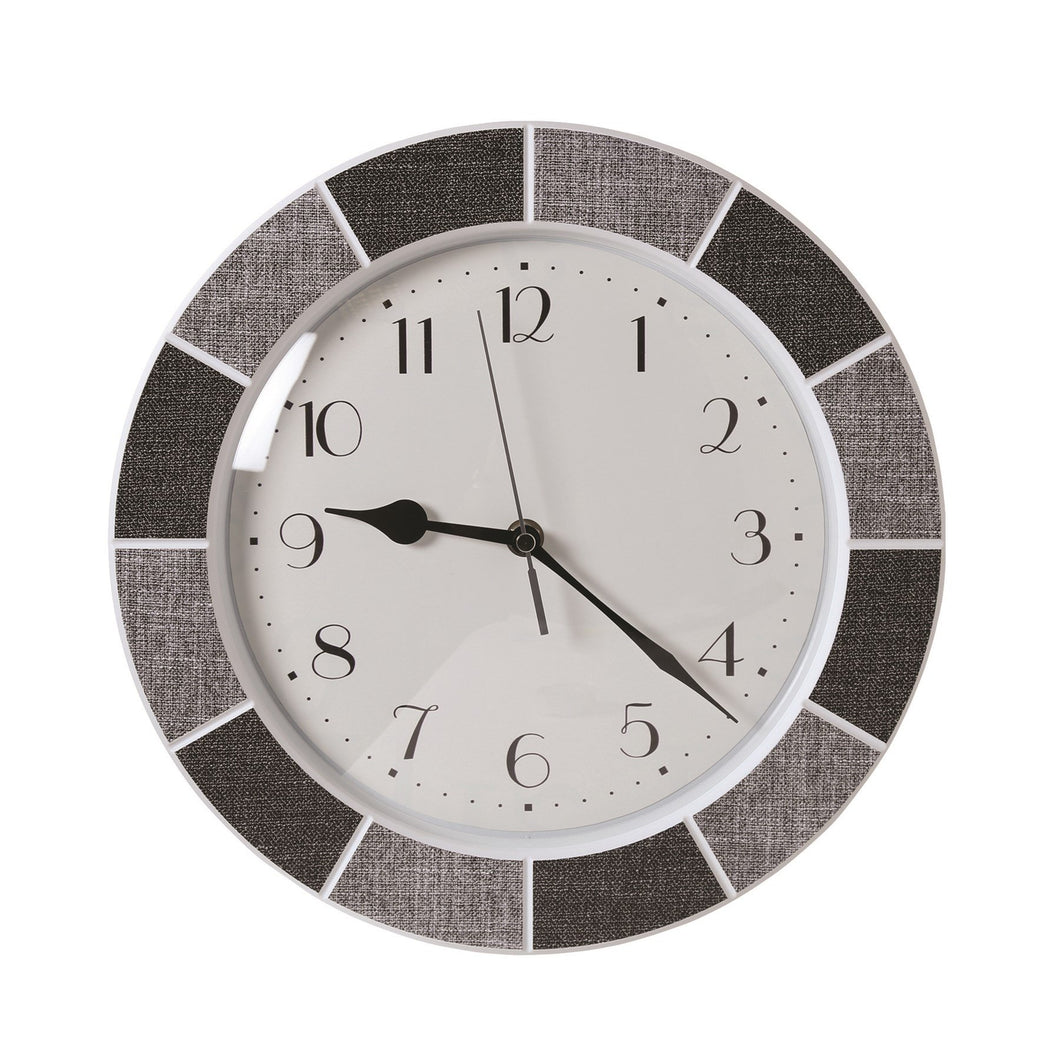 Tile Effect Clock -  Grey Buy Instore or online at beattys.ie