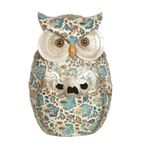 Blue Decorative Owl 23cm Buy Instore or online at beattys.ie