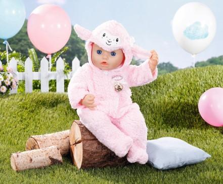 BABY ANNABELL DELUXE SHEEP ONESIE 43CM  At Beattys Loughrea Galway. Www.beattys.ie