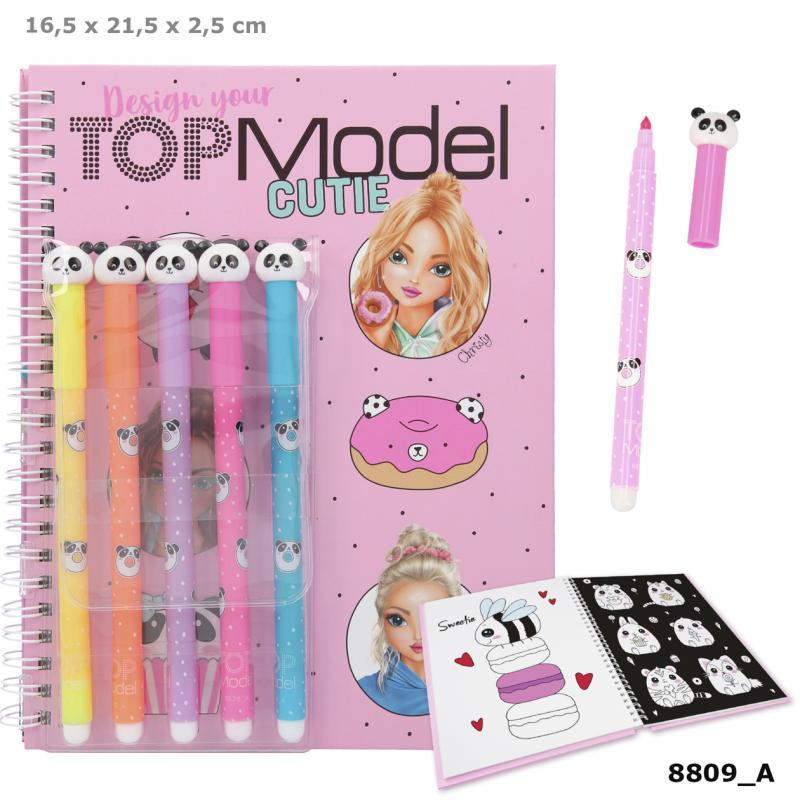 TOPModel Colouring Book With Felt Pens CANDY CAKE Buy Instore or online at beattys.ie