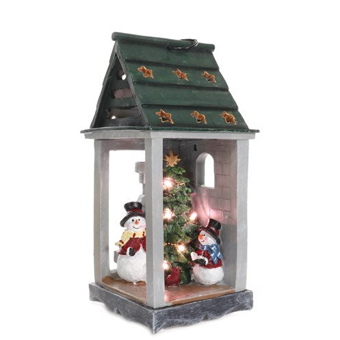 Jingles Decorative Lantern with Snowman