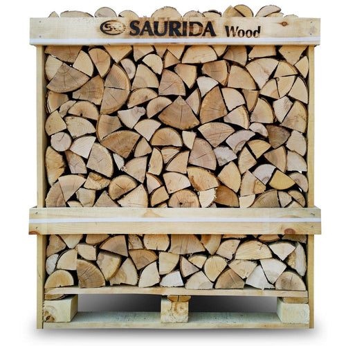 Saurida Kiln dried birch firewood in wooden crate 1,17m3/25cm - Beattys of Loughrea , www.beattys.ie