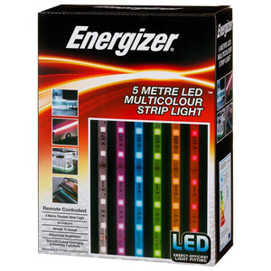 Energizer Colour Changing LED Strip Light 5m with Remote Control  Buy at Beattys Loughrea. Www.beattys.ie