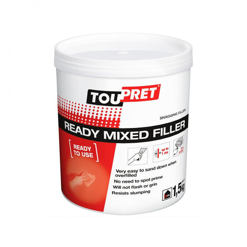 Toupret Touprelite F Ready Mixed Filler - 1.5kg - Beattys of Loughrea , www.beattys.ie