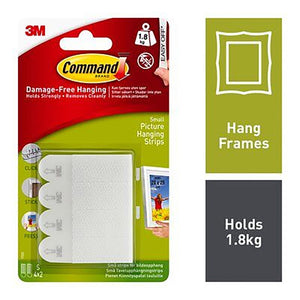 COMMAND SML PICTURE HANGING STRIPS 3M17202  Buy at Beattys Loughrea. Www.beattys.ie