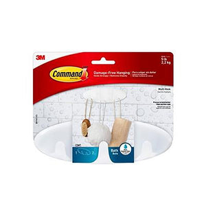 COMMAND BATH MULTI HOOK 3MBATH21  Buy at Beattys Loughrea. Www.beattys.ie
