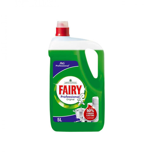 Fairy Professional Washing Up Liquid Original - 5ltr - Beattys of Loughrea , www.beattys.ie