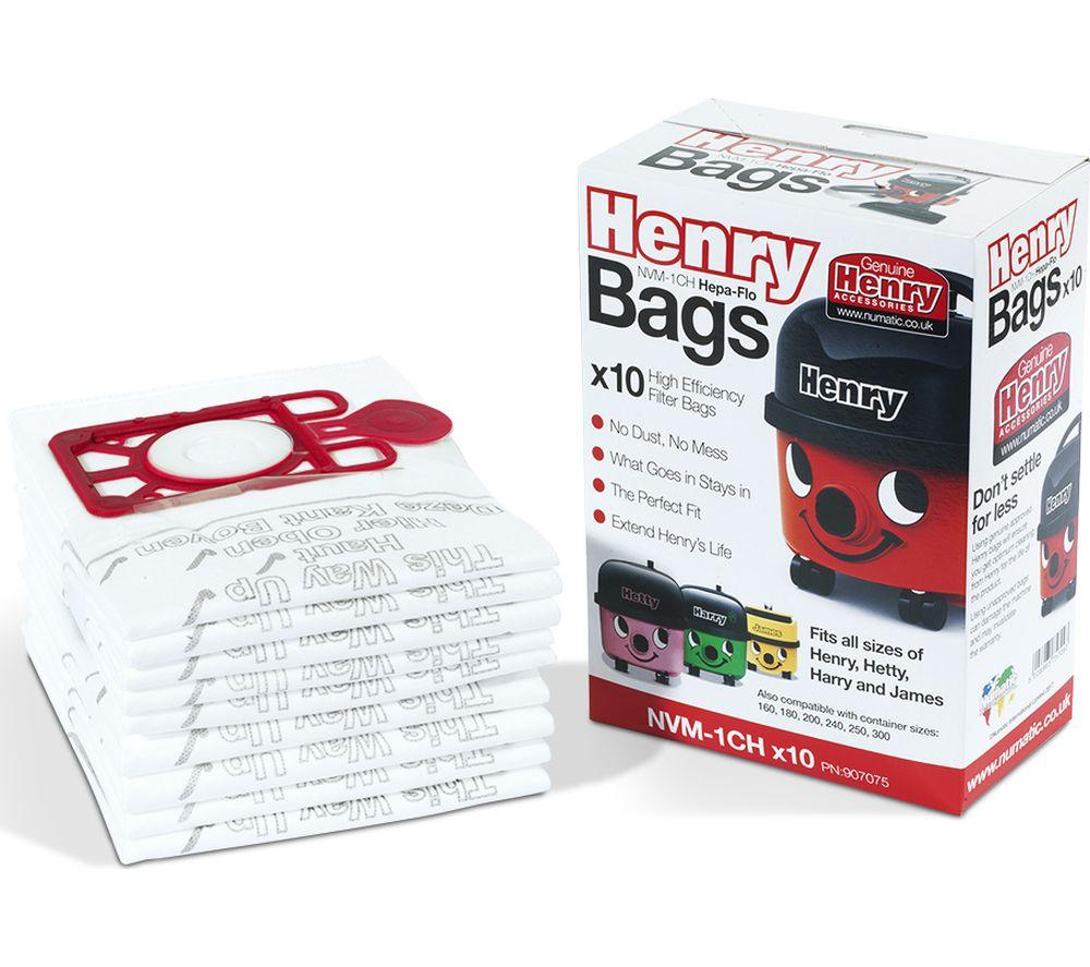 Henry Genuine Numatic Hepaflow Vacuum Bags 10 Pack  At Beattys Loughrea Galway. Www.beattys.ie