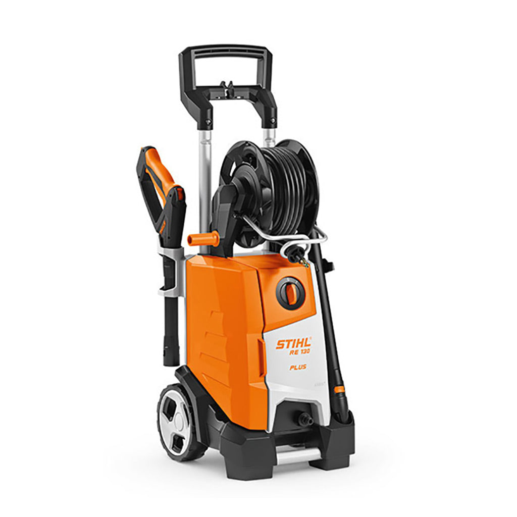 STIHL RE130 PLUS 135BAR 420L/H 2.3KW POWER WASHER HOSE REEL 49500124562 Buy Instore or online at beattys.ie