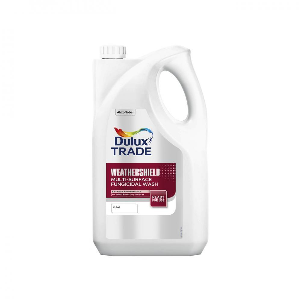Dulux Weathershield Multi Surface Fungicidal Wash - 5 L  At Beattys Loughrea Galway. Www.beattys.ie