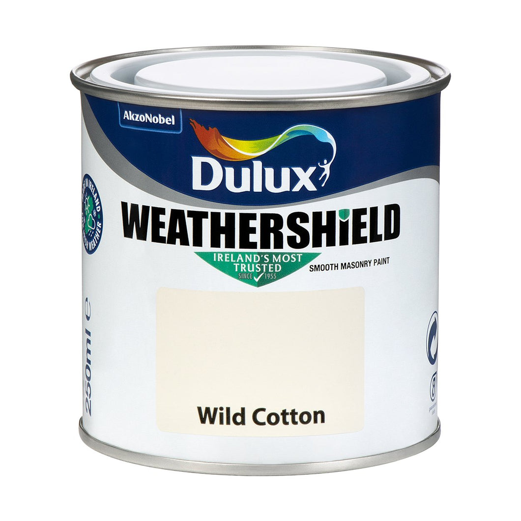 WEATHERSHIELD TESTER 250ML WILD COTTON  At Beattys Loughrea Galway. Www.beattys.ie