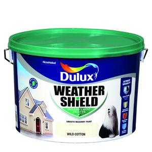 WILD COTTON Dulux Weathershield Masonry Paint Colours - 10 Litre - Beattys of Loughrea , www.beattys.ie