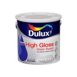 Dulux Stay White with Aquatech High Gloss Paint - 2.5 L - Beattys of Loughrea , www.beattys.ie