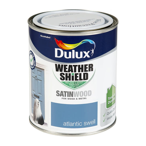 DSW750A W/SHIELD EXT SATINWOOD ATLANTIC SWELL 750ML DULUX  At Beattys Loughrea Galway. Www.beattys.ie