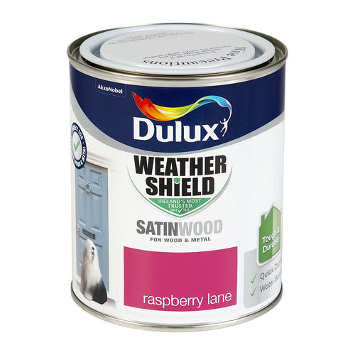 DSW750R W/SHIELD EXT SATINWOOD RASPBERRY LANE 750ML DULUX  At Beattys Loughrea Galway. Www.beattys.ie